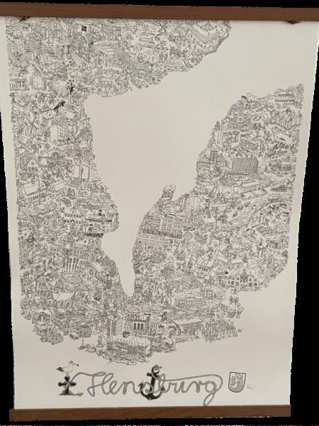 Ein Wimmelbild von Flensburg